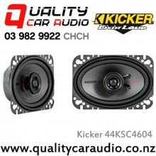 "Kicker 44KSC4604 4x6"" 150W (75W RMS) 2 Way Coaxial Car Speakers with Easy LayBy"