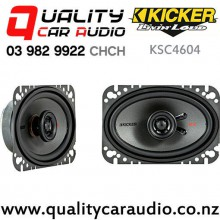 "Kicker KSC4604 4x6"" 150W (75W RMS) 2 Way Coaxial Car Speakers (pair) with Easy Finance"