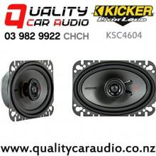 "Kicker KSC4604 4x6"" 150W (75W RMS) 2 Way Coaxial Car Speakers (pair) with Easy Finance"