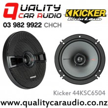 "Kicker 44KSC6504 6.5"" 200W (100W RMS) 2 Way Coaxial Car Speakers with Easy LayBy"