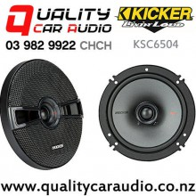 "Kicker KSC6504 6.5"" 200W (100W RMS) 2 Way Coaxial Car Speakers (pair) with Easy Finance"