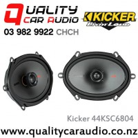 "Kicker 44KSC6804 6x8"" 150W (75W RMS) 2 Way Coaxial Car Speakers with Easy LayBy"