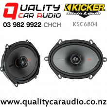 "Kicker KSC6804 6x8"" 150W (75W RMS) 2 Way Coaxial Car Speakers (pair) with Easy Finance"