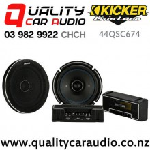 "Kicker 44QSC674 6.75"" 200W (100W RMS) 2 Way Coaxial Car Speakers (pair) with Easy Finance"