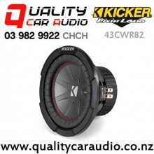 "Kicker CompR 43CWR82 8"" 600W (300W RMS) Dual 2 ohm Voice Coils Car Subwoofer with Easy Finance"
