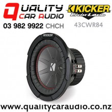 "Kicker CompR 43CWR84 8"" 600W (300W RMS) Dual 4 ohm Voice Coils Car Subwoofer with Easy Finance"