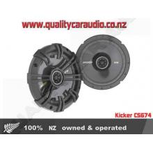 "Kicker CS674 6.75"" 300W 2 way car speakers - Easy LayBy"