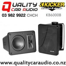 Kicker KB6000B Full Range 150W (75W RMS) 2 Way Speaker Enclosure Black (pair) with Easy Finance