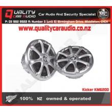 """Kicker KM6200 6.5"""" 195W 2 way marine speakers - Easy LayBy"""