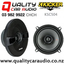 "Kicker KSC504 5.25"" 150W (75W RMS) 2 Way Coaxial Car Speakers (pair) with Easy Finance"