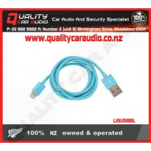 Li5USBBL Lightning to USB Cable Blue - Easy LayBy