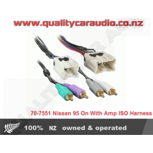Metra 70-7551 Nissan 1995 On With Amp ISO Harness with Easy Layby