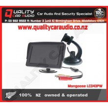 """Mongoose LCD43PW 4.3"""" dash mounting with screen hood - Easy LayBy"""