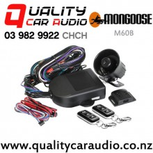 Mongoose M60B 4 Stars 2x Immobilizer, Impact Sensor, Door & Bonnet Protection and More Car Alarm with Easy Layby