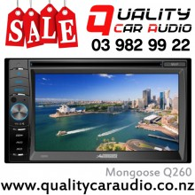 "Mongoose Q260 6.2"" Navigation Bluetooth DVD USB AUX NZ Tuners 1x Pre Out with Easy LayBy"