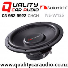 "Nakamichi NS-W125 12"" 2500W (250W RMS) Single 4 ohm Voice Coil Car Subwoofer with Easy Finance"