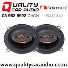 """Nakamichi NSE1357 5.25"""" 280W (35W RMS) 2 Way Coaxial Car Speakers (pair)"""