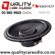"Nakamichi NSW125 12"" 2500W (250W RMS) Single 4 ohm Voice Coil Car Subwoofer with Easy Finance"