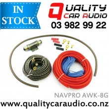 NAVPRO AWK-8G 8 Gauge 1200W Amplifier Wiring Kits with Easy LayBy
