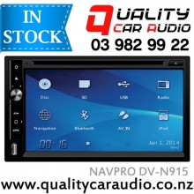 "NAVPRO DV-N915 6.75"" NAVIGATION (not incl MAP) DVD BLUETOOTH USB AUX NZ TUNERS with Easy LayBy"
