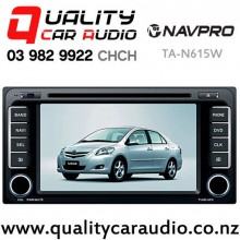 """NAVPRO TA-N615W (Toyota 200mm Facial) 7"""" Navigation Bluetooth DVD CD USB AUX NZ Tuners (Map not include) with Easy Finance"""