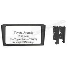 Toyota Avensis 2003 on  (Black) Fitting Kit
