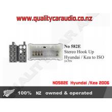 NO582E  Hyundai /Kea 24 Pin Hook up to ISO - Easy LayBy