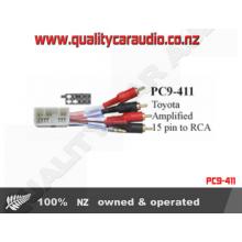 PC9-411 Toyota Amplified toRCA 15 Pin Adaptor Lead