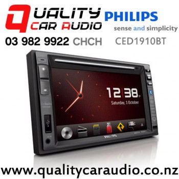 Philips CED1910BT Navigation (Map include) Bluetooth 50W x 4 DVD CD USB AUX IPOD Head Unit With Easy Finance