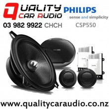 """Philips CSP550 5.25"""" 210W (40W RMS) 2 Way Component Car Speakers (pair) with Easy Finance"""