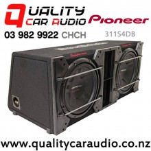 "Pioneer 311S4DB 12"" 2800W (800 RMS) Dual Subwoofer in Custom Pioneer Slot-Ported Box with Easy Finance"