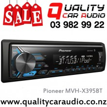 Pioneer MVH-X395BT Bluetooth iPod Android USB AUX NZ Tuners (RDS) 1x Pre Out with Easy Layby