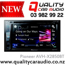 """Pioneer AVH-X2850BT 6.2"""" Bluetooth DVD USB AUX NZ Tuners 3x Pre Outs with Easy LayBy"""