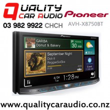 "Pioneer AVH-X8750BT 7"" Bluetooth DVD USB AUX Head Unit with Easy Layby"