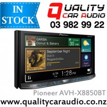 """Pioneer AVH-X8850BT 7"""" Apple Car Play Bluetooth DVD USB AUX NZ Tuners 3x Pre Outs with Easy Layby"""