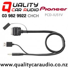 Pioneer CD-IU51V ipod to USB & Video Connection Cable With Easy Layby