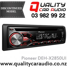 Pioneer DEH-X2850UI CD USB AUX Ipod Android NZ Tuners 2x Pre Outs Car Stereo with Easy Layby