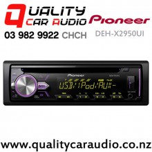 Pioneer DEH-X2950UI CD USB AUX Ipod Android NZ Tuners 2x Pre Outs Car Stereo