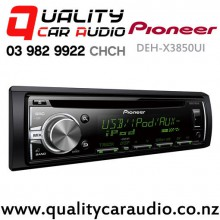 Pioneer DEH-X3850UI CD USB AUX ipod NZ Tuners 2x Pre Outs with Easy Layby