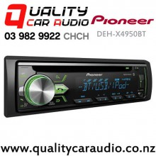 Pioneer DEH-X4950BT Bluetooth ipod/Android CD USB AUX NZ Tuners (RDS) 2x Pre out with Easy Layby