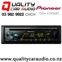 Pioneer DEH-X7850BT Bluetooth CD Dual USB (front and rear) AUX Ipod NZ Tuners 3x Pre Outs Car Stereo With Easy Layby