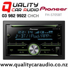 Pioneer FH-S705BT Bluetooth CD USB AUX Apple Android Support NZ Tuners 2x Pre Out Car Stereo with Easy Finance