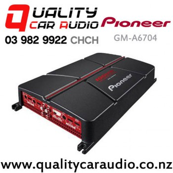 Pioneer GM-A6704 500W 4/3/2 Channels Bridgeable Car Amplifier with Bass Boost