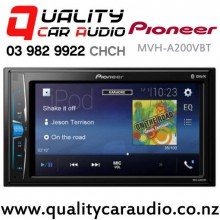 Pioneer MVH-A200VBT Bluetooth iPod USB AUX NZ Tuners 3x Pre Outs Car Stereo with Easy Finance