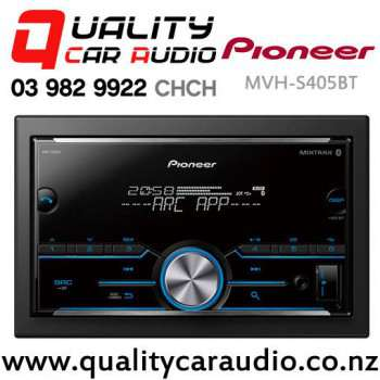 Pioneer MVH-S405BT Bluetooth USB AUX Apple Android Support NZ Tuners 2x Pre Out Car Stereo with Easy Finance