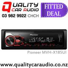 Pioneer MVH-X185UI USB AUX iPod NZ Tuners 1x Pre Out Mechless Car Stereo with Basic Installation