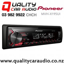 Pioneer MVH-X195UI USB AUX iPod/iPhone Direct Support NZ Tuner 1x Pre Out Car Stereo Fitted From $139 with Easy Finance