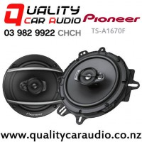 """Pioneer TS-A1670F 6.5"""" 320W (70W RMS) 3 Way Coaxial Car Speakers (pair) with Easy Payments"""