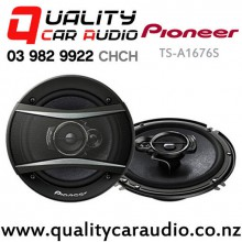 "Pioneer TS-A1676S 6""/ 6.5"" 350W (50W RMS) 3 Ways Coaxial Car Speakers (pair) with Easy Finance"