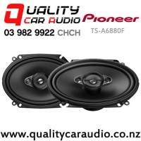 """Pioneer TS-A6880F 6x8"""" 350W (80W RMS) 4 Way Coaxial Car Speakers (pair) with Easy Payments"""